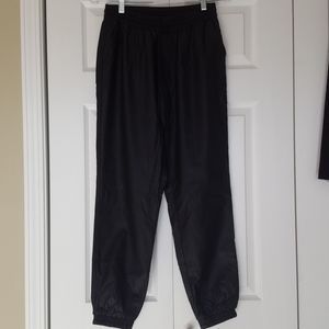 Abercrombie and Fitch faux leather joggers